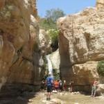 Hidden Falls - Wadi Arugot - 27July13
