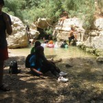 Refreshing in pools of Ein Gedi - Wadi Arugot - 27July13